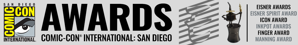 San Diego Comic-Con Eisner Awards banner