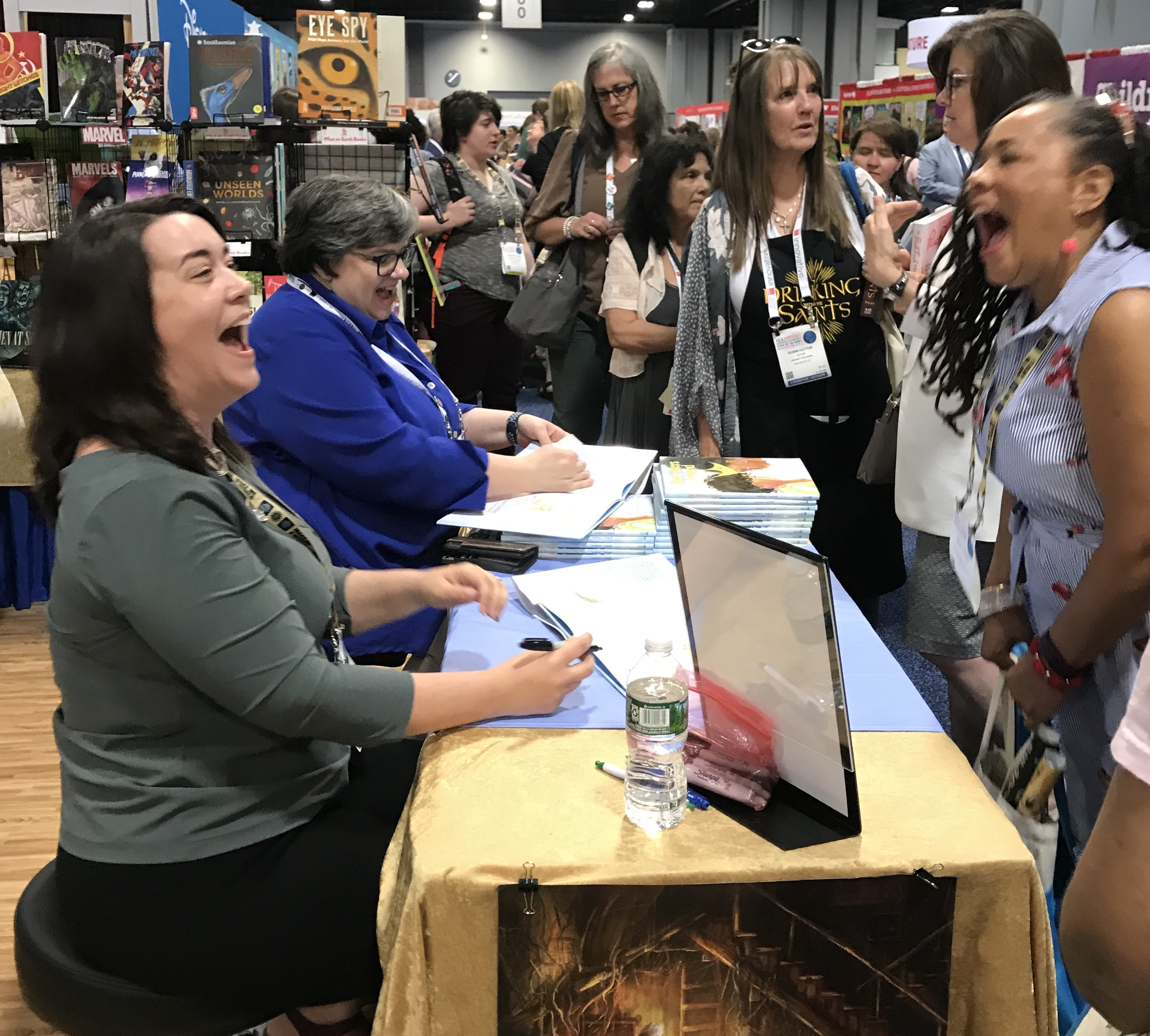 Author Megan Dowd Lambert meets a fan