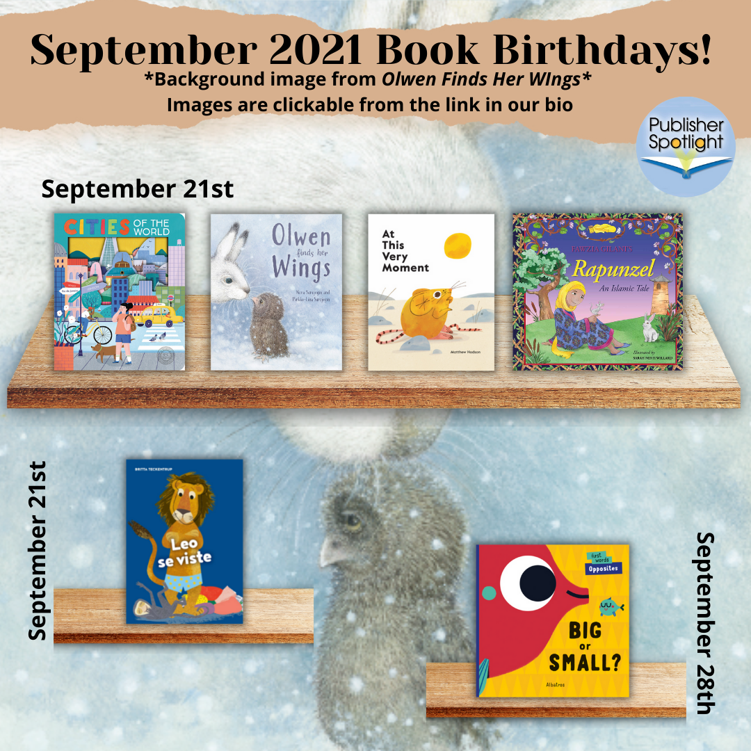 Book Birthdays September 2021 4