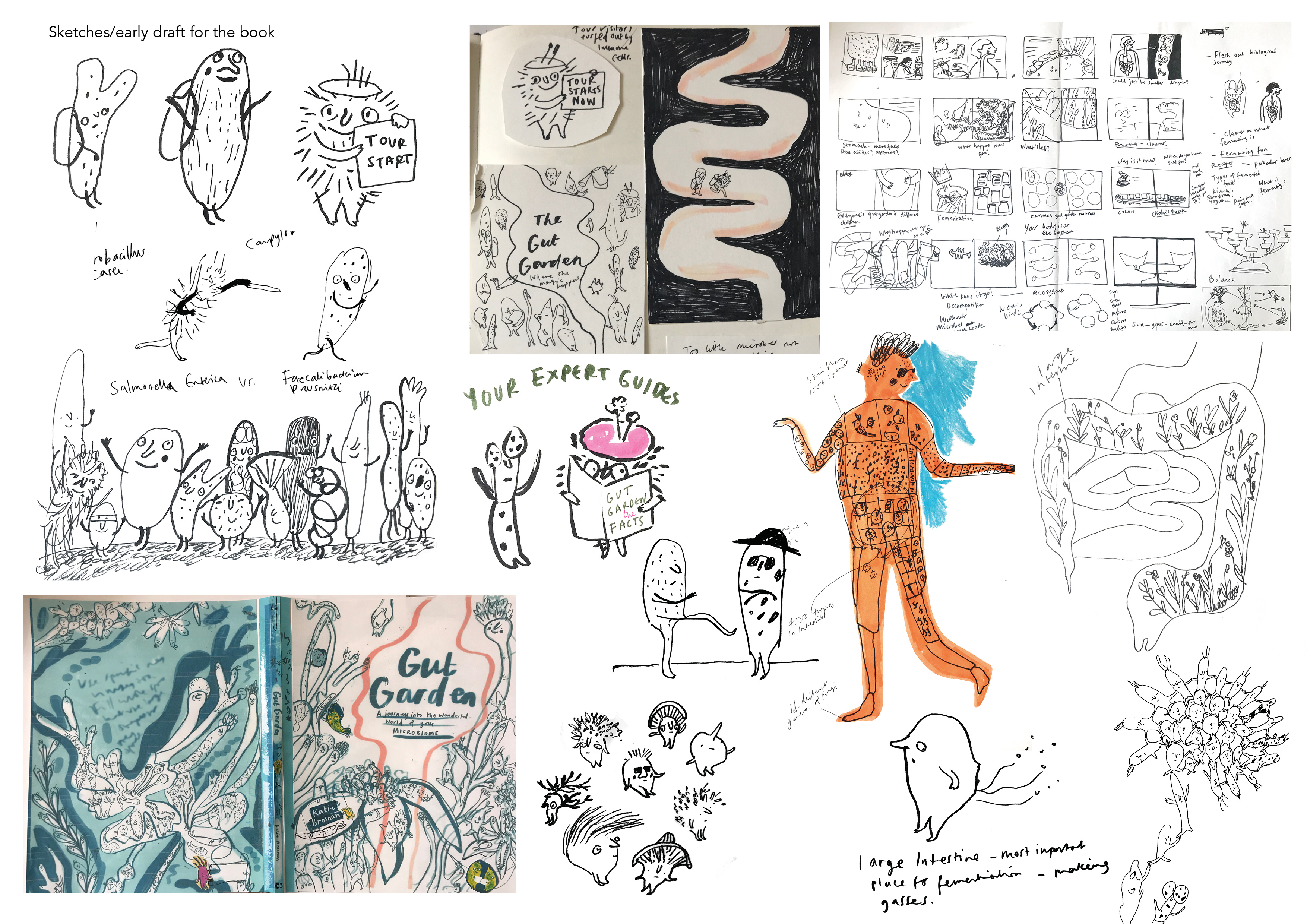 Early sketches for Gut Garden