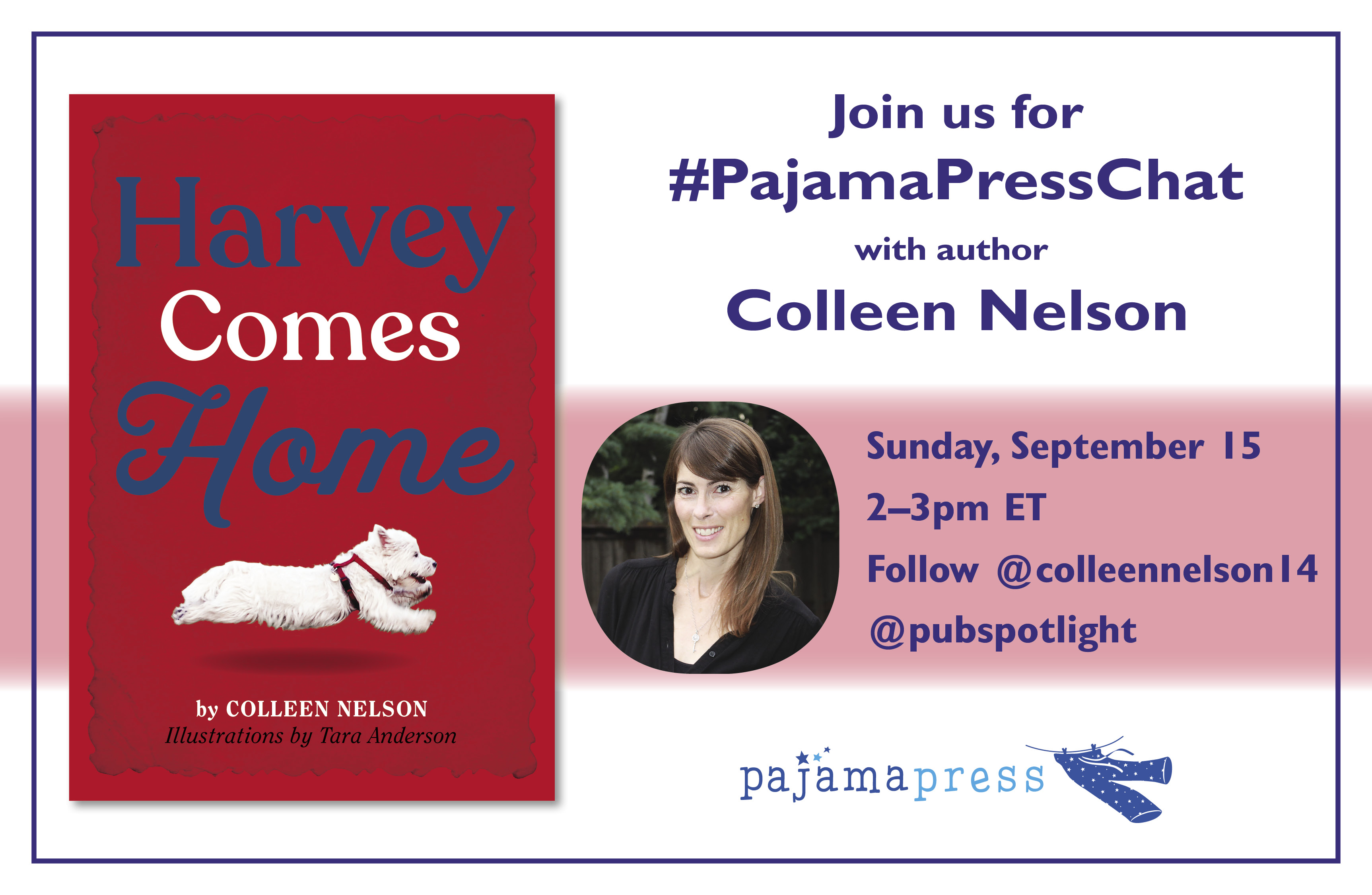Twitter Chat graphic for Colleen Nelson