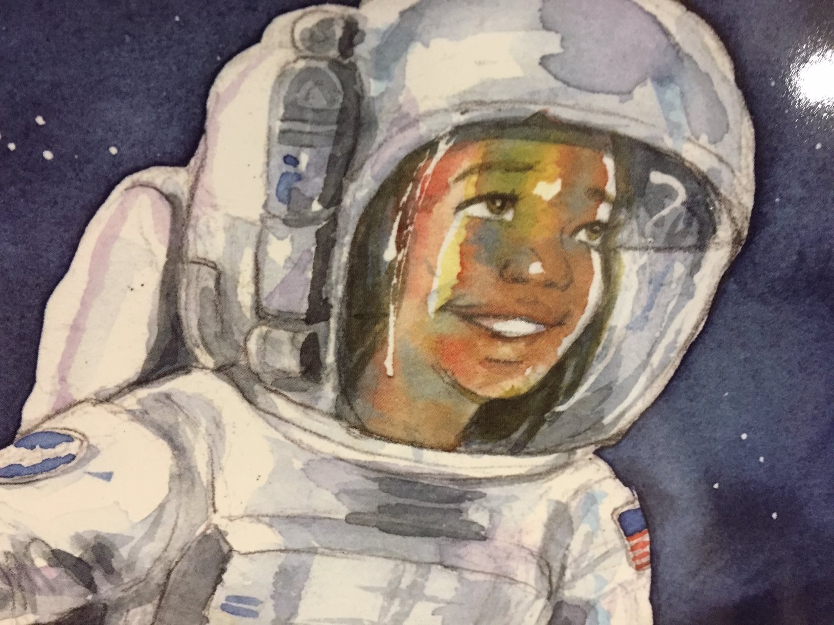 Astronaut Annie fan art on library bookmobile