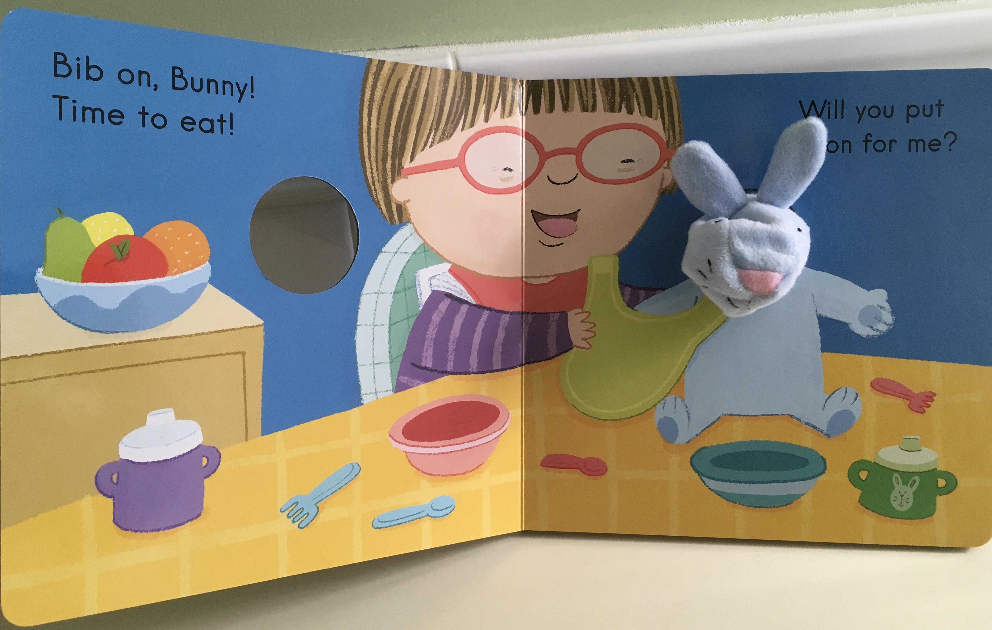 Bib on Bunny! board book interior